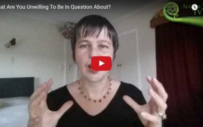 What Are You Unwilling To Be In Question About?